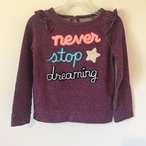 Cat & Jack never stop dreaming purple top 5T